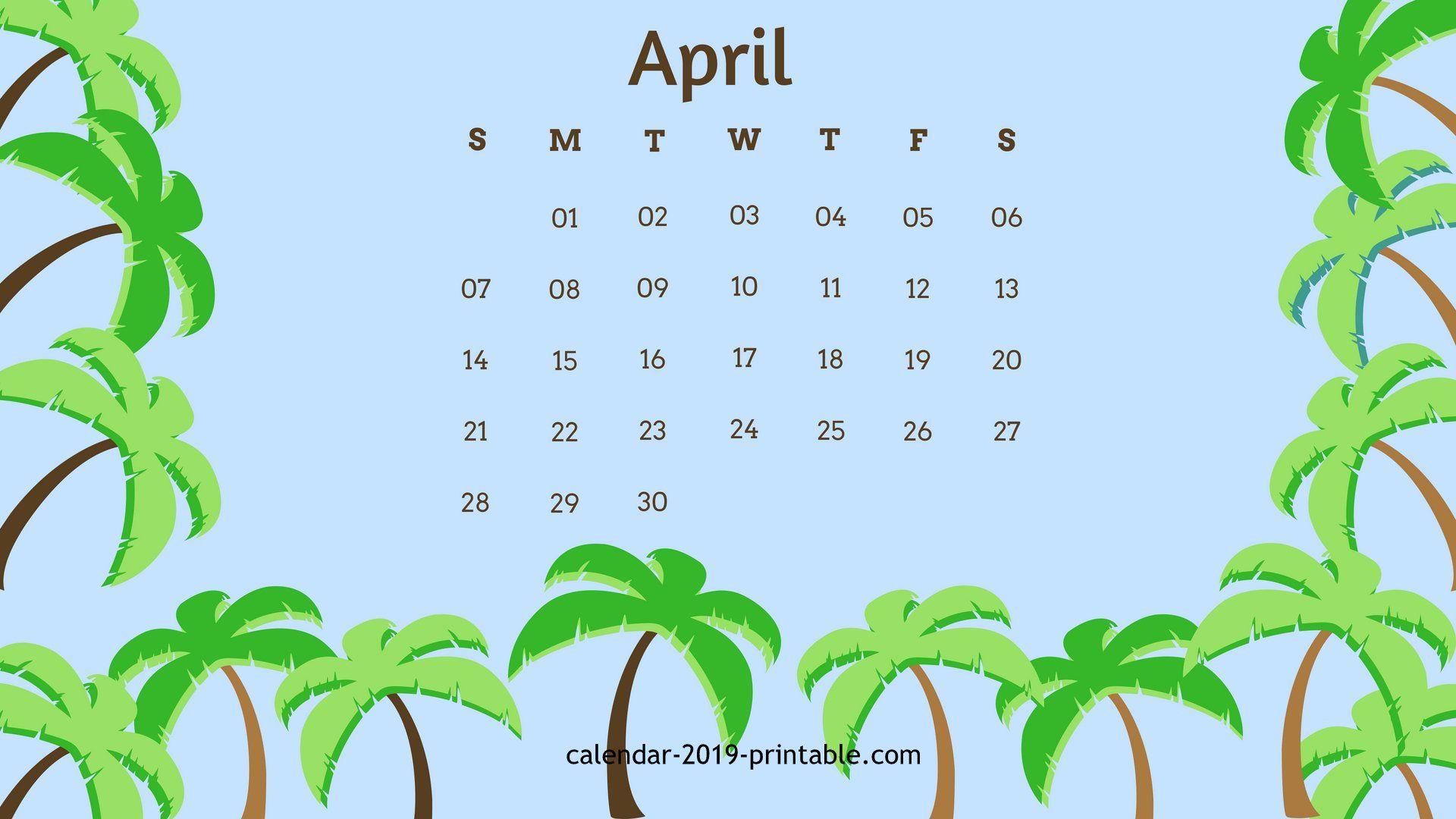 free april 2019 wallpaper calendar 2019 Calendars Pinterest 1920x1080