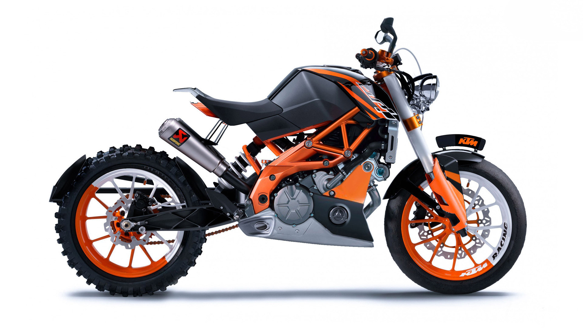 Home Bikes KTM KTM Duke 125 Bike HD Wallpapers 1920x1080