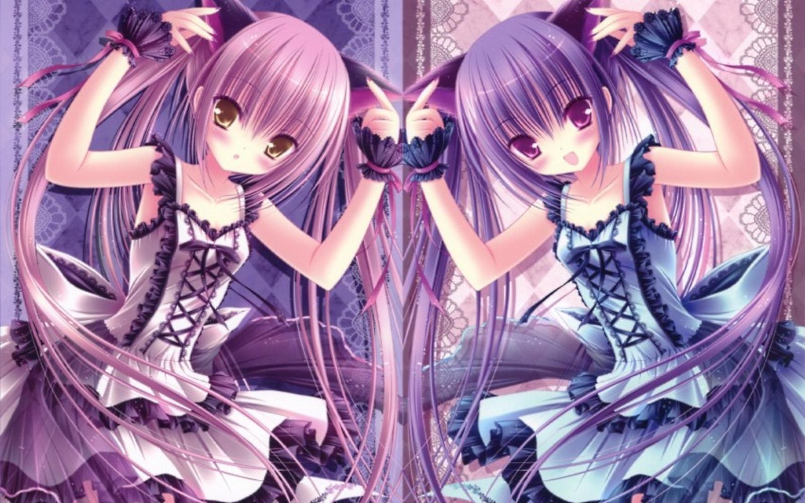 girls   Kawaii Anime Wallpaper 34625063 1600x1000