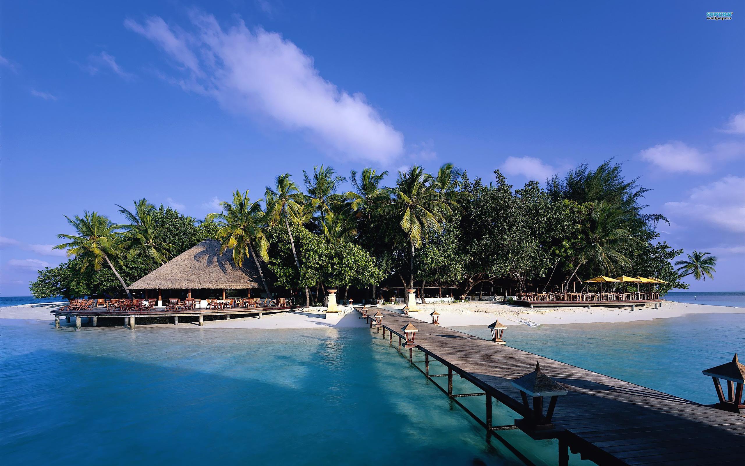 Maldives Beach 4K Wallpapers Desktop Backgrounds 2560x1600