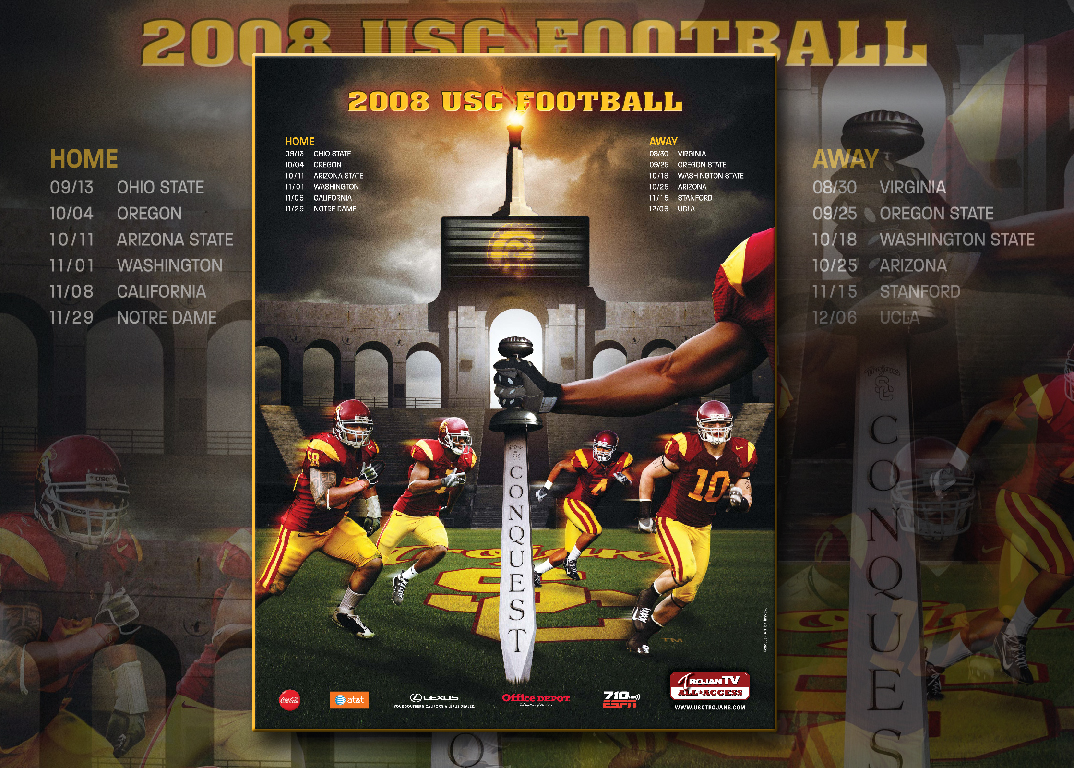 USC Football 2008 USC Football Schedule Wallpaper Dreadnaught 1074x768