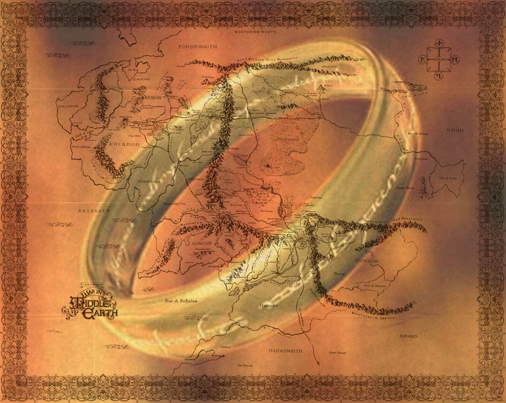 Lord of the Ring Map by garysrobbo 1000x797