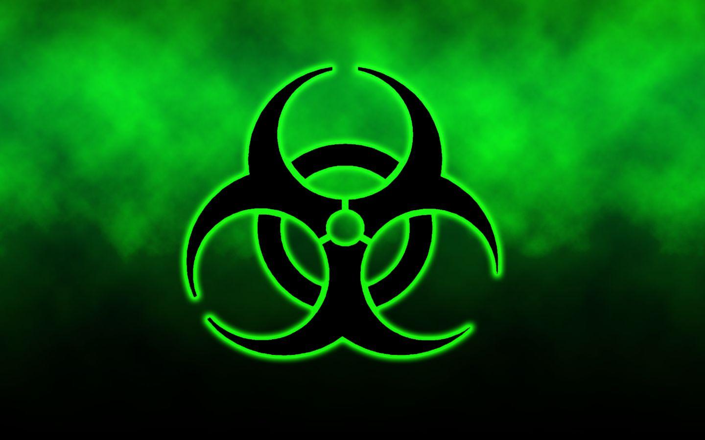 Green Biohazard Background 1440x900