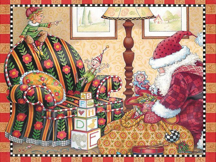 Night Before Christmas Wallpaper Wallpapersafari