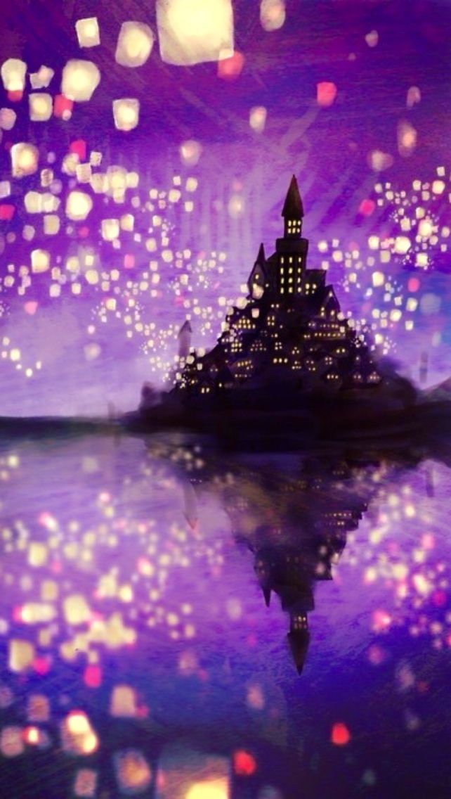 Castles Floating Lanterns Fans Art Tangled Lanterns Disney Movie 642x1136