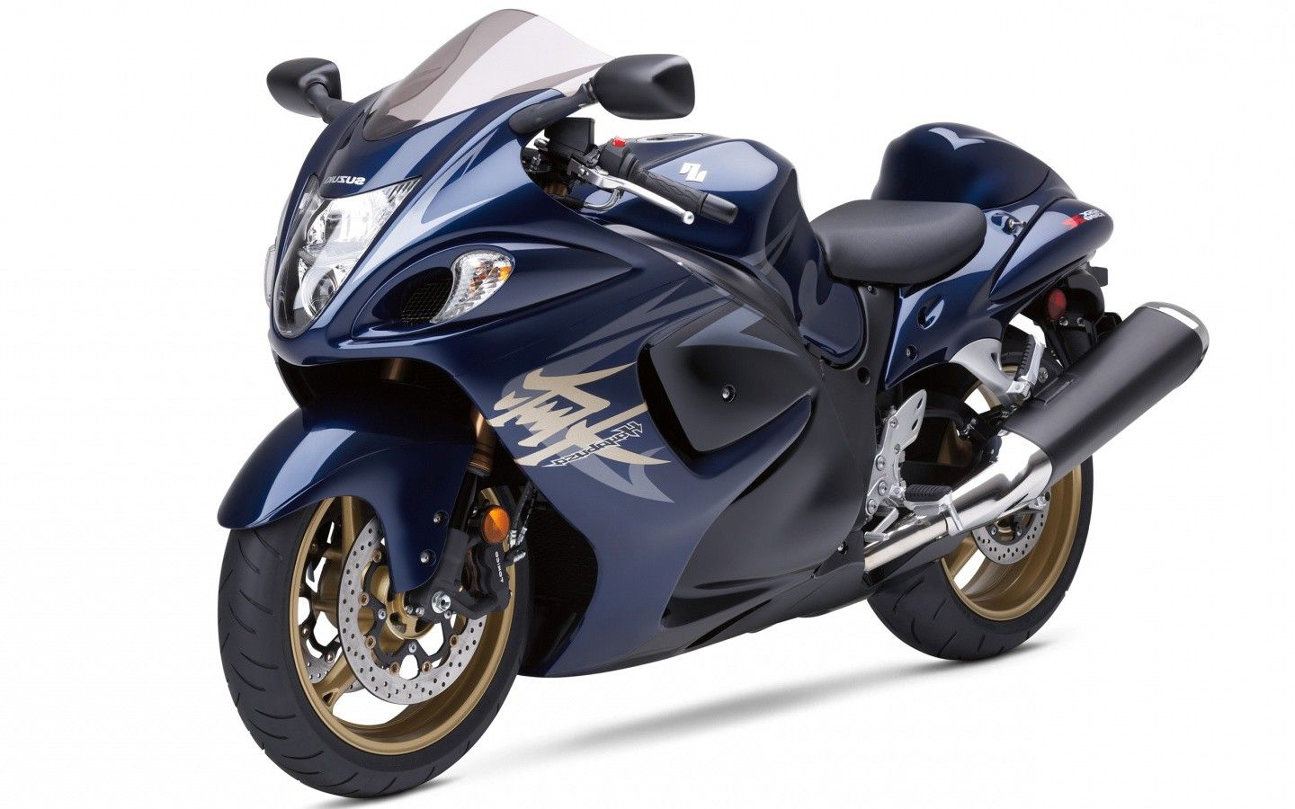 hayabusa suzuki bike blue color hd wallpaper Suzuki Bike 1440x900