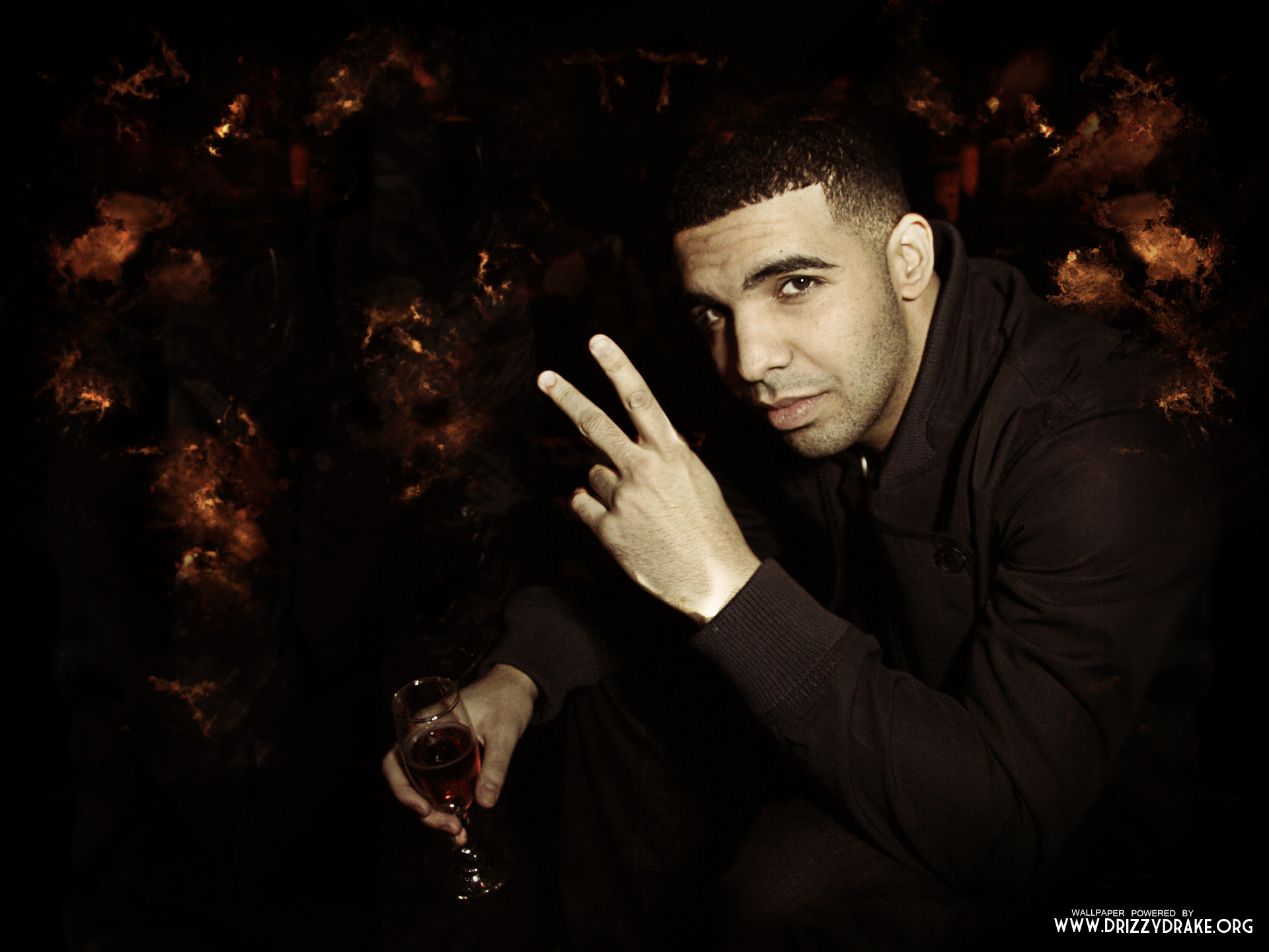 Drake Peace Sign Rap Wallpapers 1920x1440