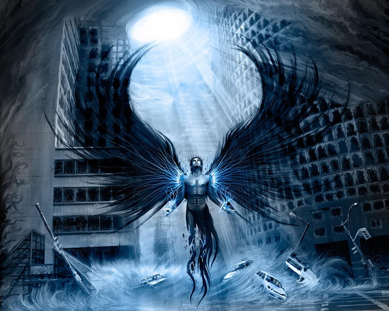 Ангел света обои на рабочий стол