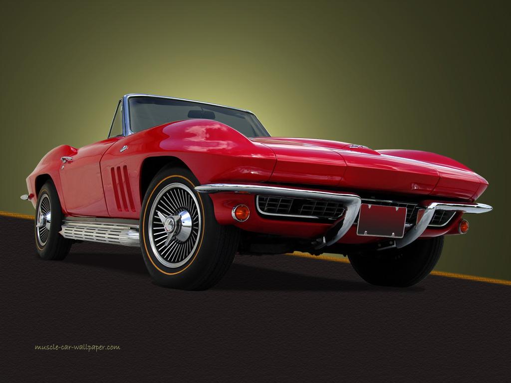 Red Corvette Wallpaper WallpaperToon 1024x768