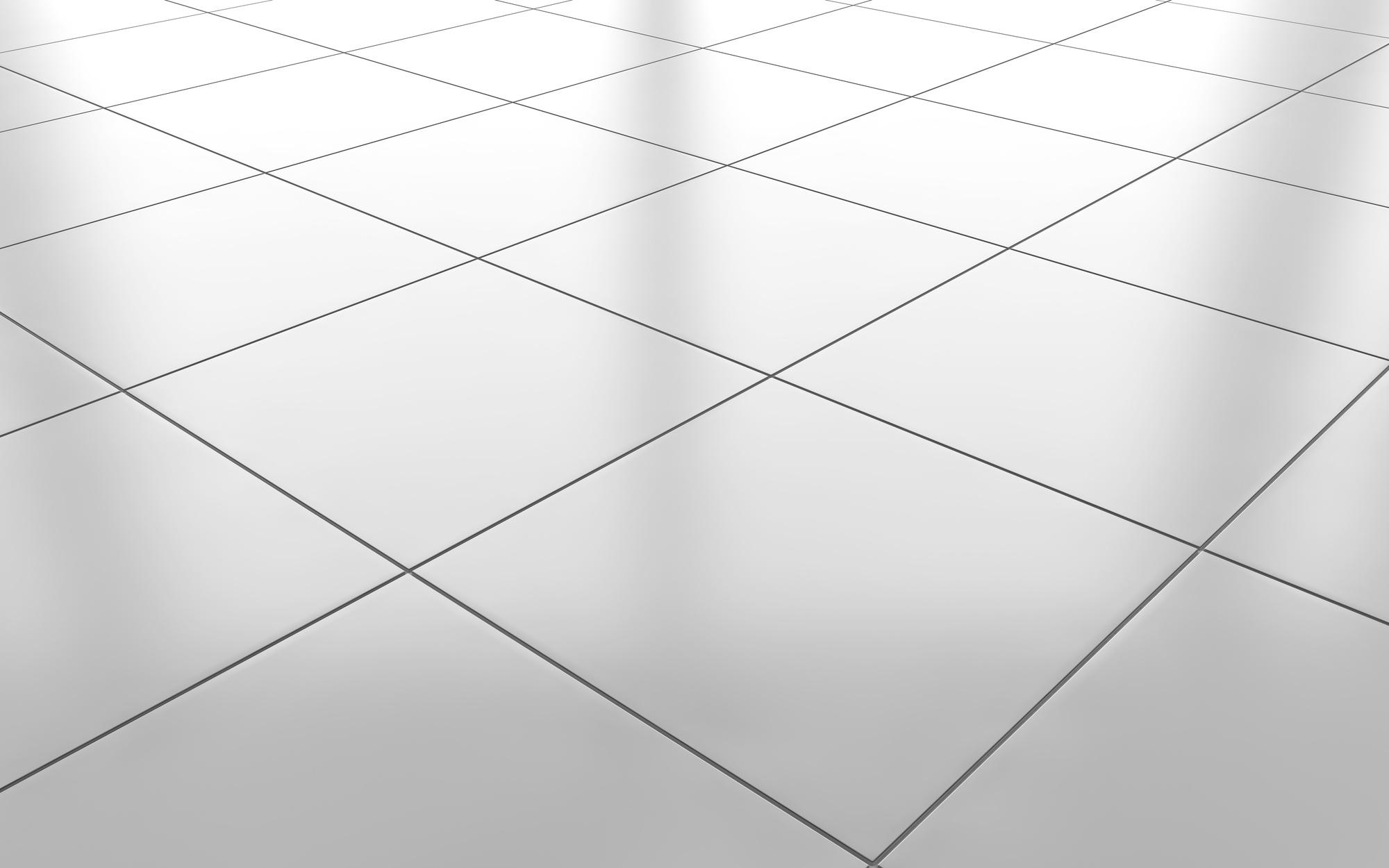 White glossy ceramic tile floor background My Affordable Floors 2000x1250