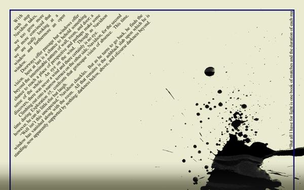 Literature Wallpaper Textpaper paper text literature ink blot house 600x375