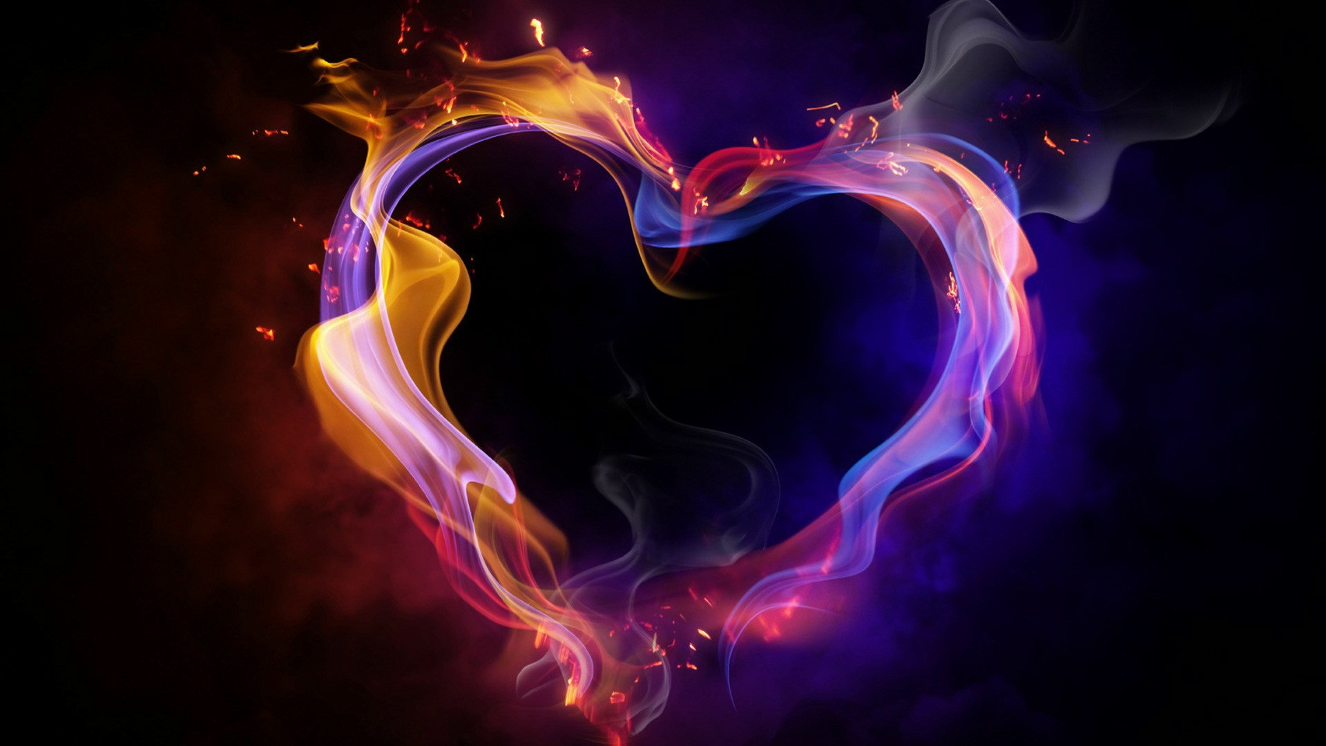 Hd 1920x1080 Cool Color Abstract Heart Desktop Wallpapers Backgrounds 1920x1080