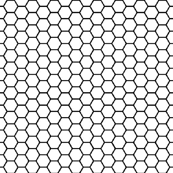 Removable Wallpaper   Black and White Honeycomb   Contemporary   Wall 576x576