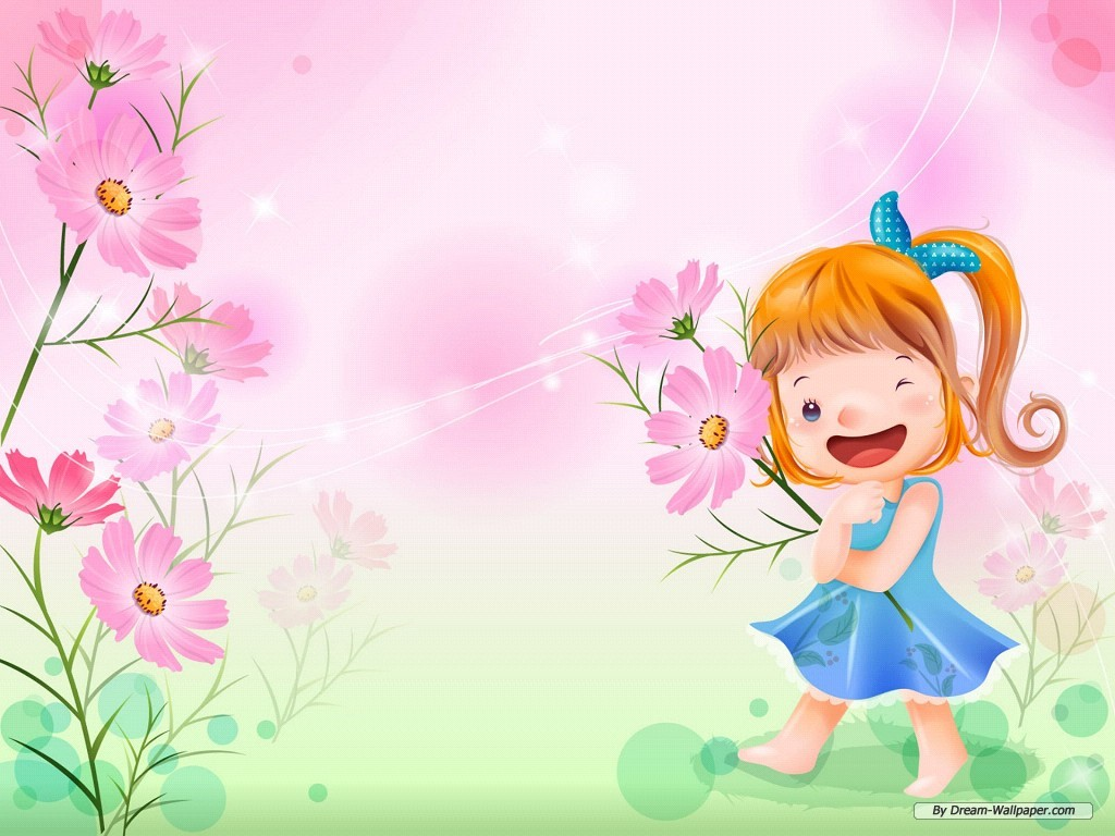 Wallpaper   Cartoon wallpaper   Vector childhood 1 wallpaper 1024x768