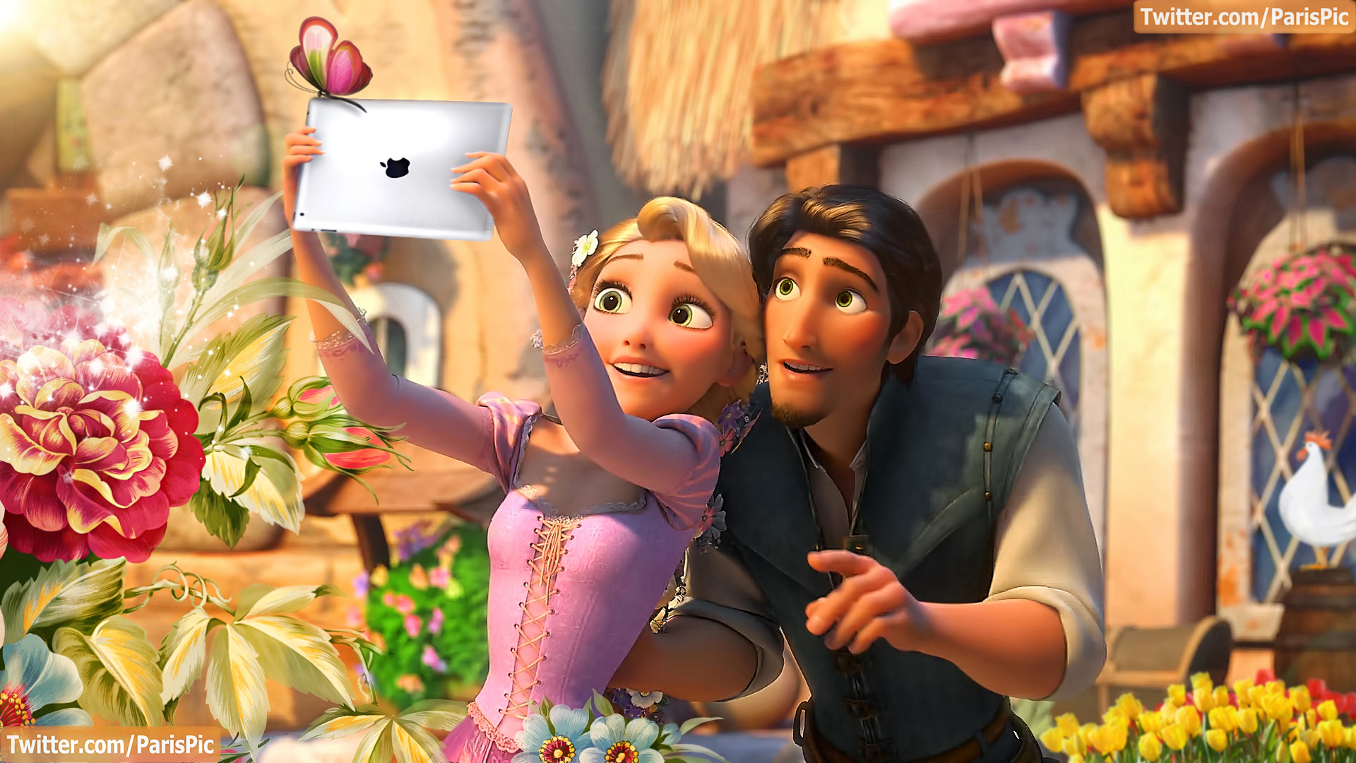 Tangled images Tangled Ipad Butterfly Rapunzel Flynn Rider 1920x1080