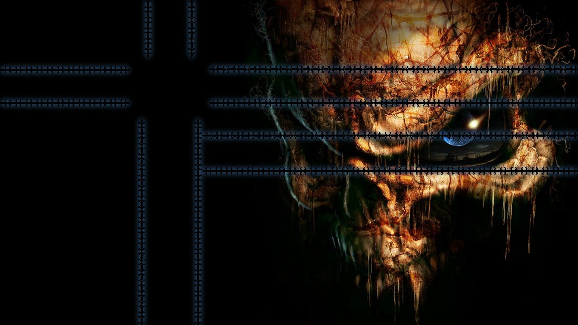 dark skull hd wallpaper 1920x1080 1920x1080