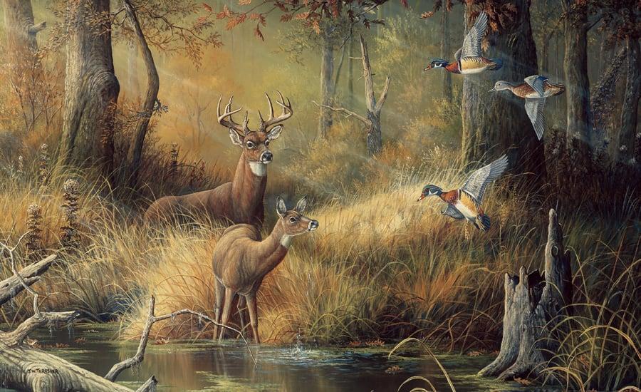 Hunters Dream Wallpaper Mural   Unpasted 900x550
