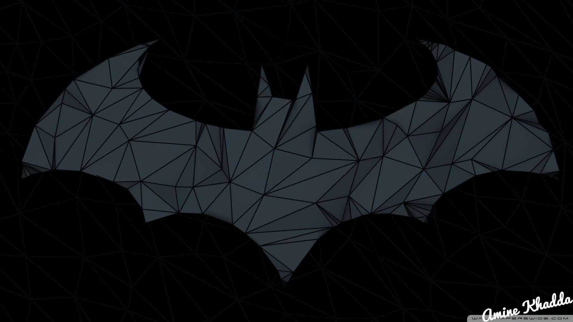 1080p batman wallpaper wallpapersafari download now batman arkham origins low poly logo 2 wallpaper 1080p hd 1920x1080 voltagebd Image collections