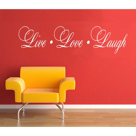 Live Love Laugh Wall Quote Wall Decal WallDecalsCanadaca 550x550