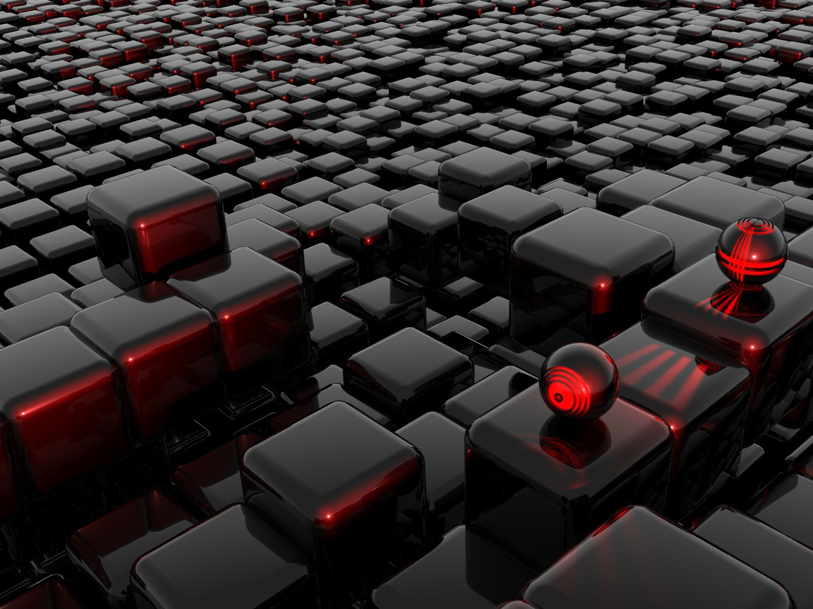 Black Box And Square Wallpapers HD Wallpaper 3D Abstract 1600x1200