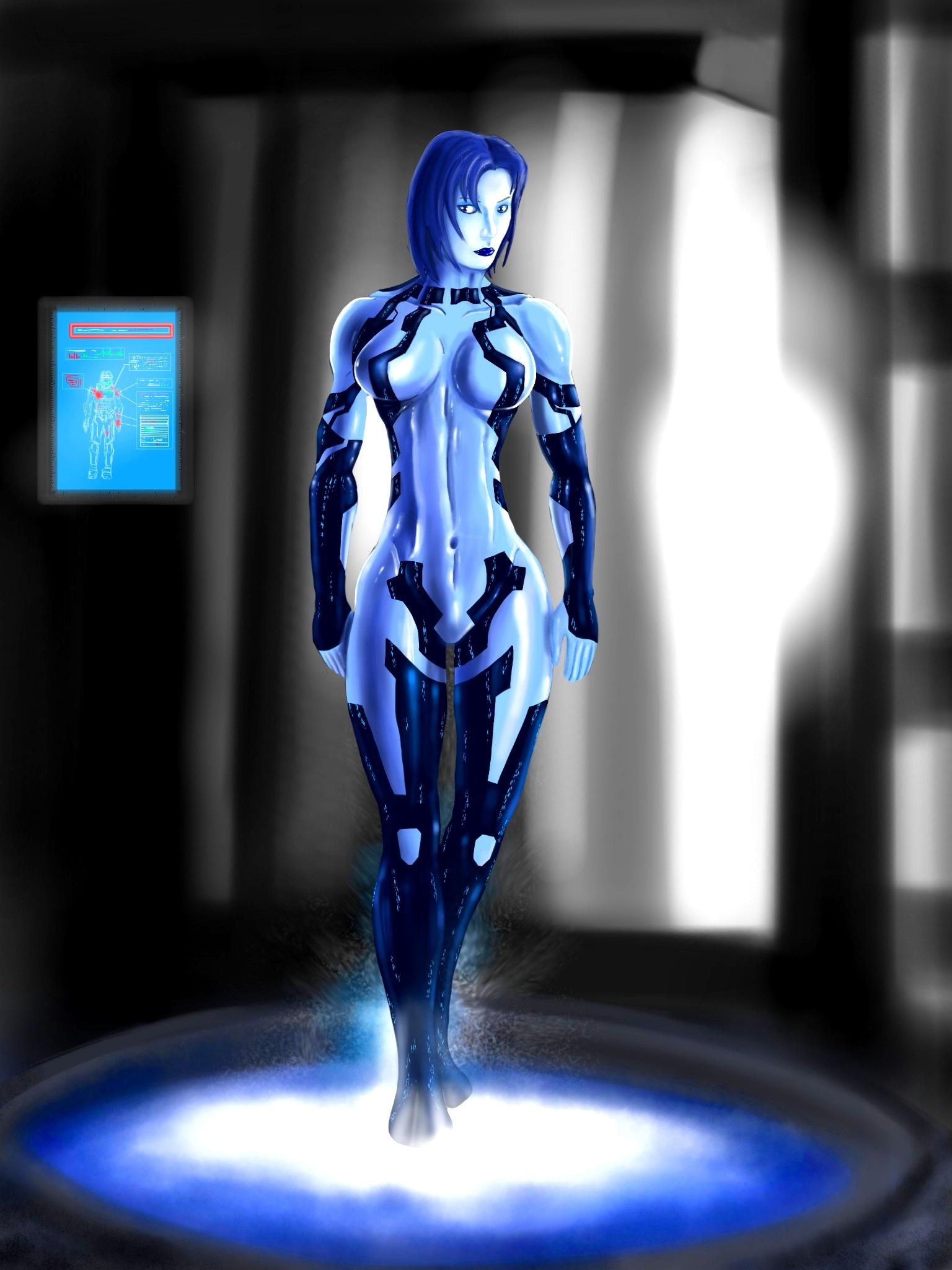 HALO 4 Cortana waits for Chief by jose144 1536x2048