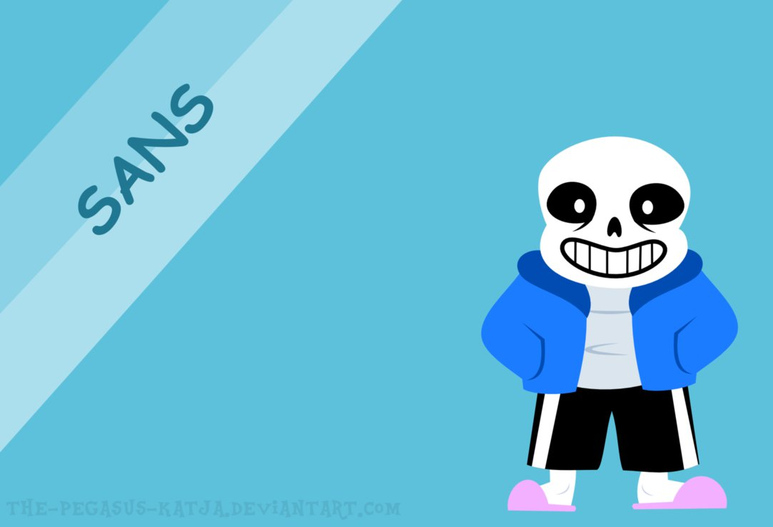 minimalistic sans wallpaper [UNDERTALE] by the pegasus katja on 1083x738