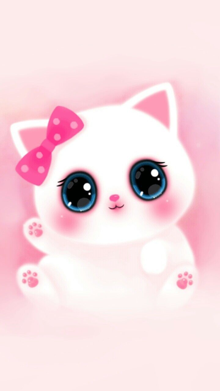 Pink Cute Girly Cat Melody Iphone Wallpaper   Best Wallpaper HD 720x1280