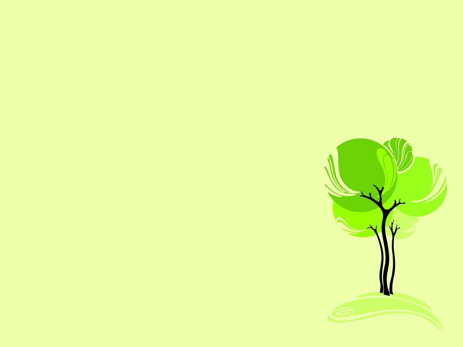Green Design Tree Backgrounds   Nature   PPT Backgrounds 1600x1200