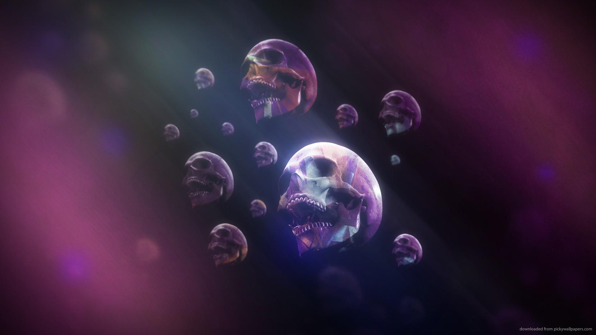 HD Psychedelic Skulls Wallpaper 1920x1080