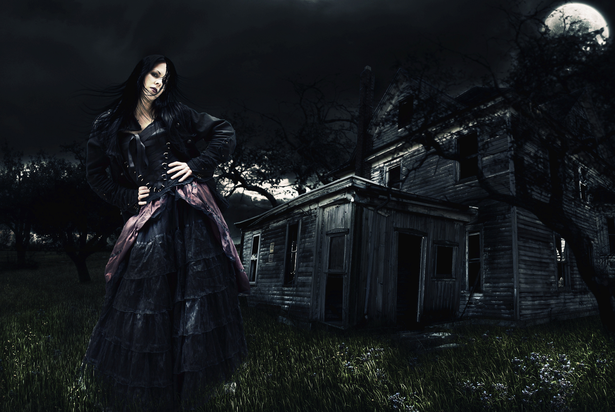 girl digital art photoshop manipulation fantasy surreal wallpaper 2000x1338