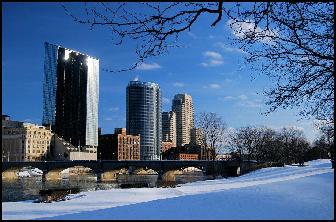 Grand Rapids Winter by gaelic
