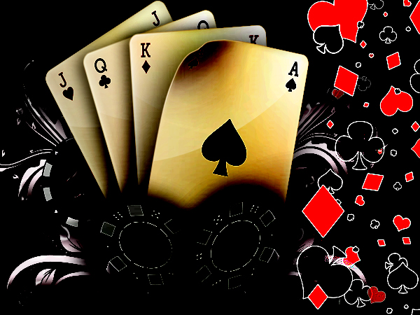 Playing Cards HD wallpaper Poker card design with a green black and 600x450