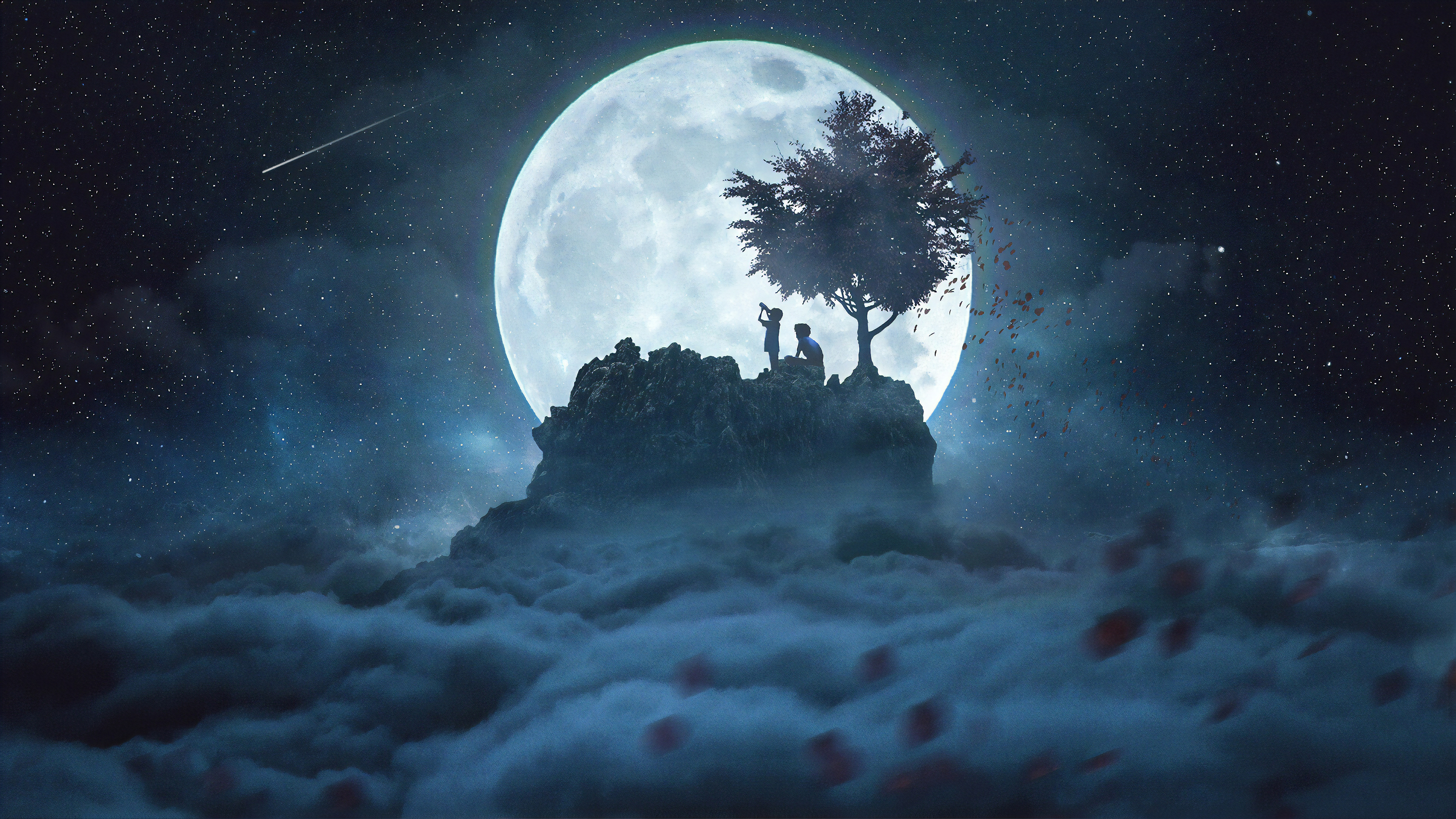 4k Talking to the Moon Wallpaper HD Artist 4K Wallpapers Images 3840x2160