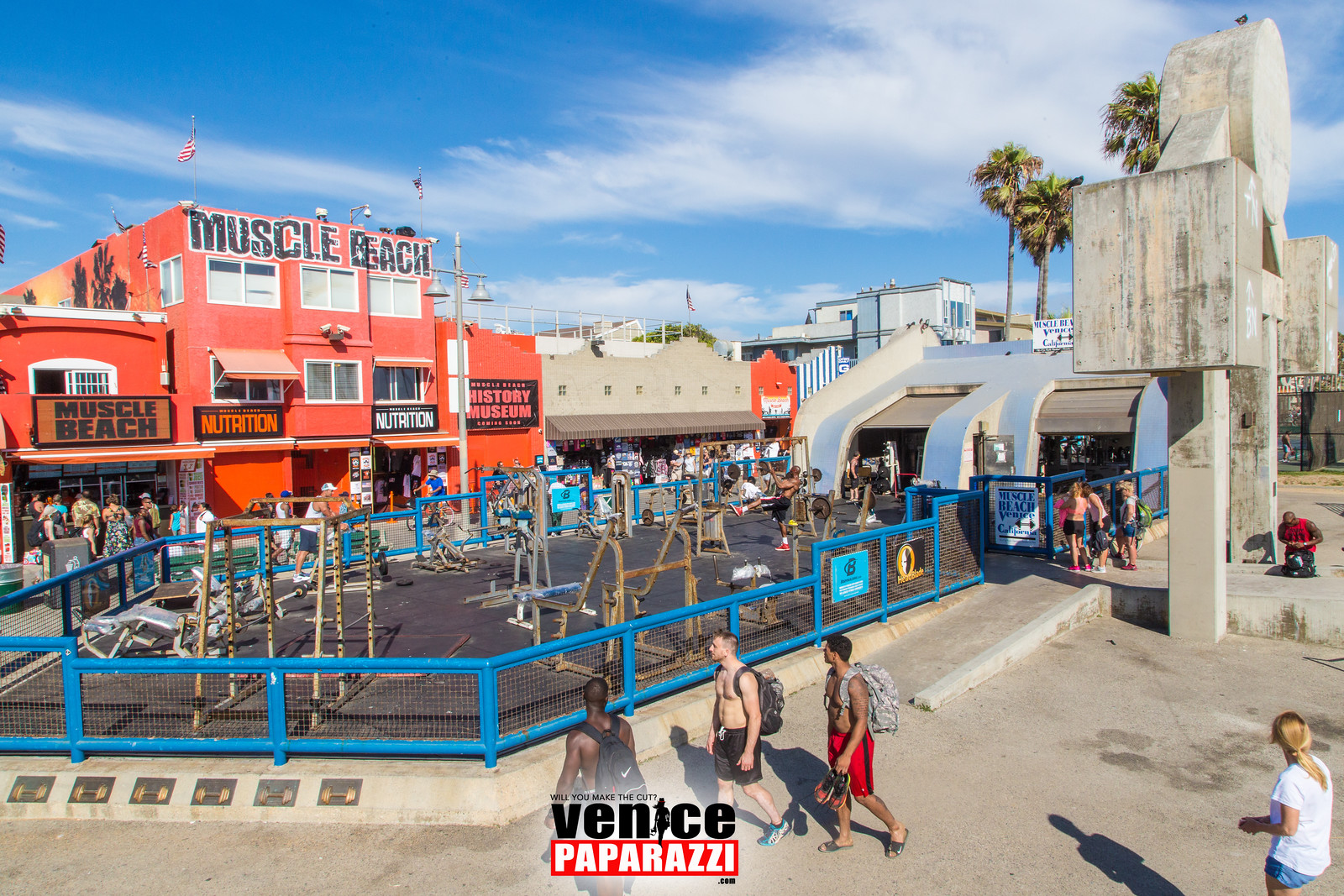 The iconic Muscle Beach Gym is under renovation Venice Paparazzi 1600x1067