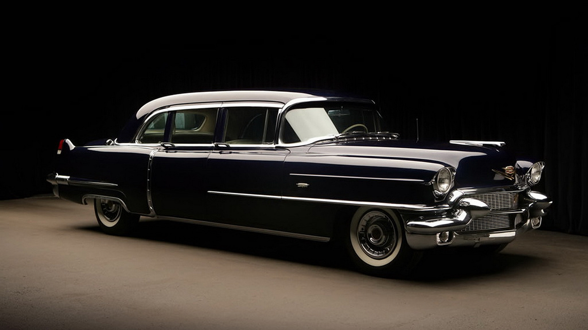 1956 Cadillac Fleetwood Series 75 Limousine HD Wallpaper 1920x1080