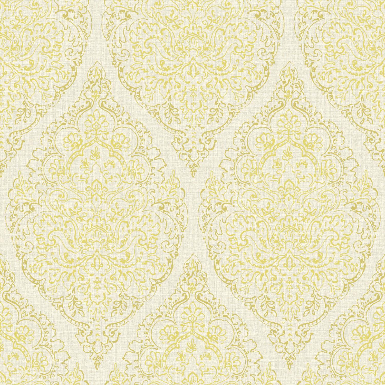 Grandeco Boho Chic Lime Stencil Damask on Light Grey Wallpaper 10m 1500x1500