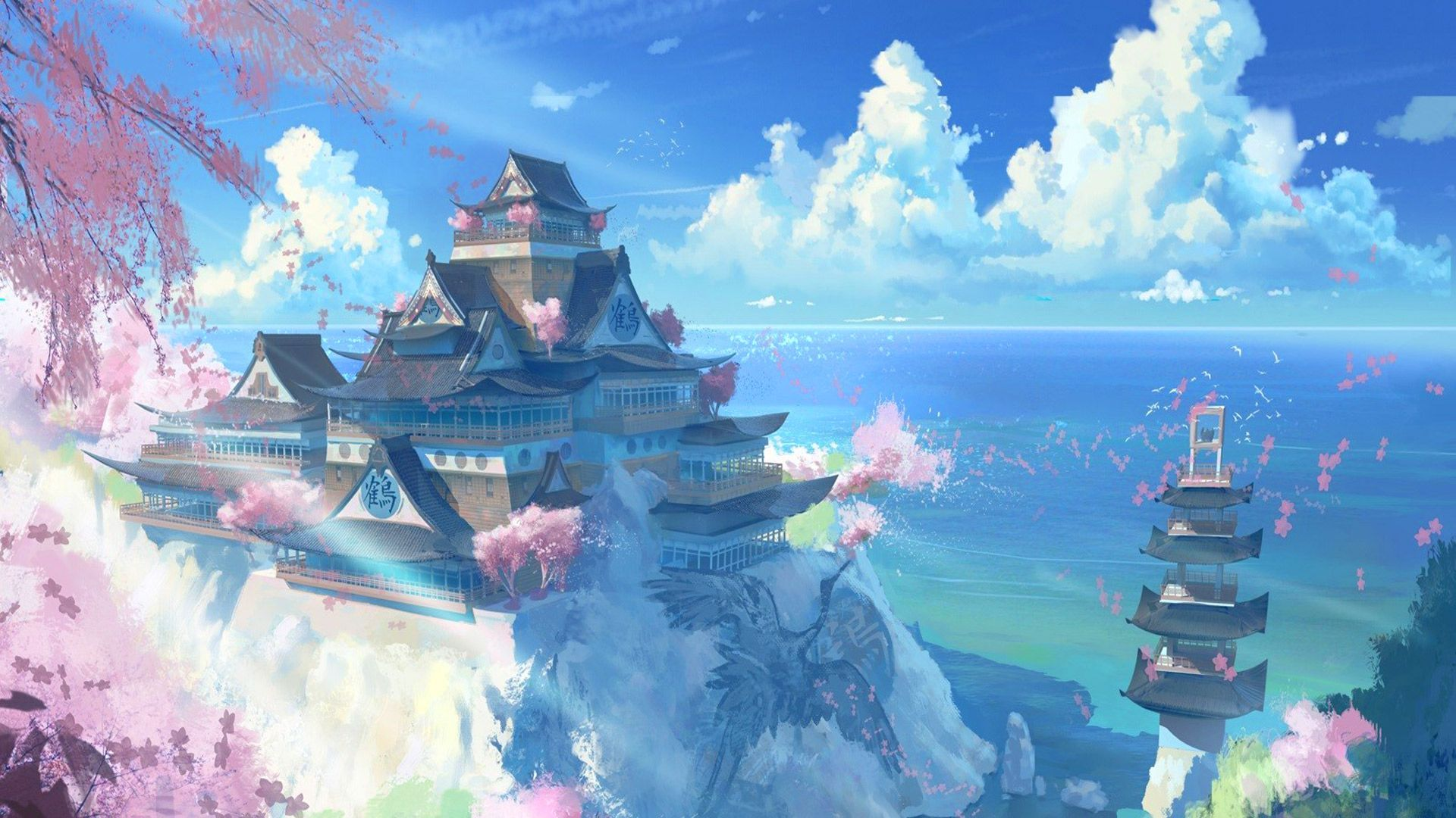 Anime Landscape Wallpapers   Top Anime Landscape Backgrounds 1920x1080