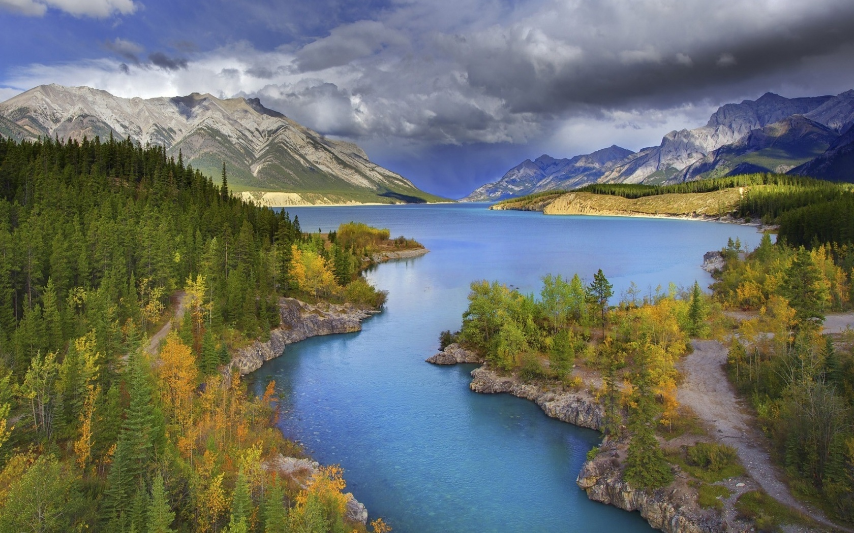1680x1050 Alberta Banff National Park desktop PC and Mac wallpaper 1680x1050
