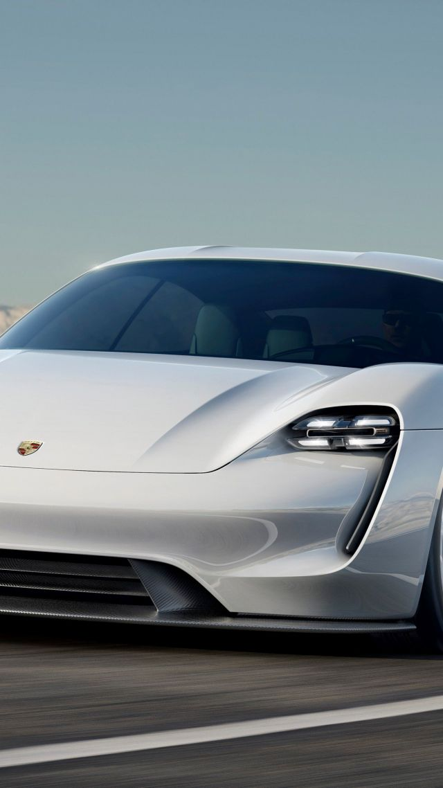 Wallpaper Porsche Taycan Electric Cars supercar 800v white 640x1138