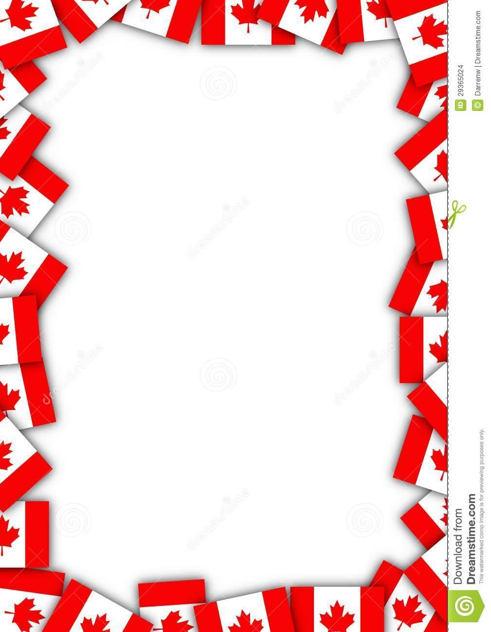 Canadian Flag Clip Art Canada flag border stock 1009x1300