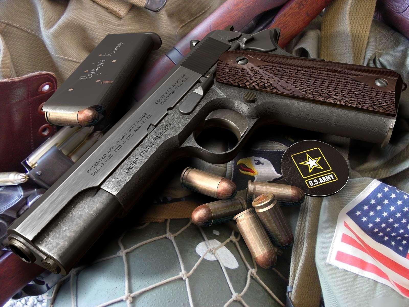 Weapons   Colt 1911 Wallpaper 1600x1200