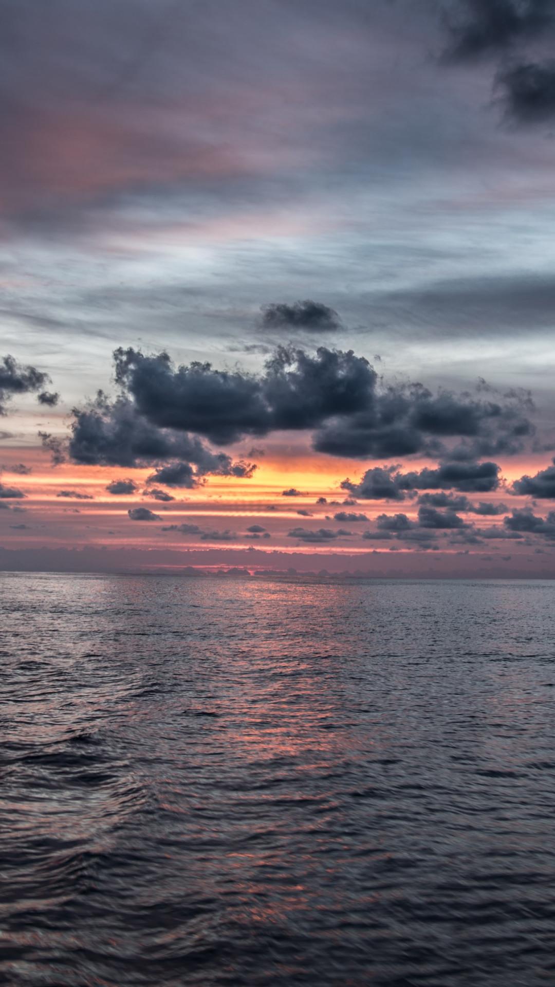 Download wallpaper Sunset from Palma de Mallorca 1080x1920 1080x1920