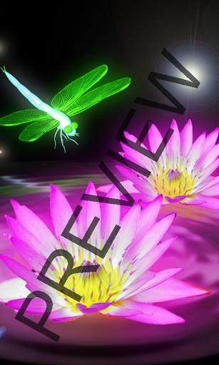 View bigger   Neon pink dragonfly wallpaper for Android screenshot 307x512
