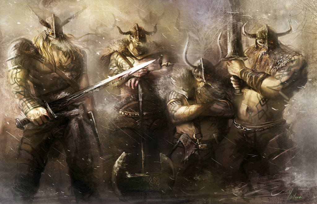 Warriors of Viking by ya yun 1024x661