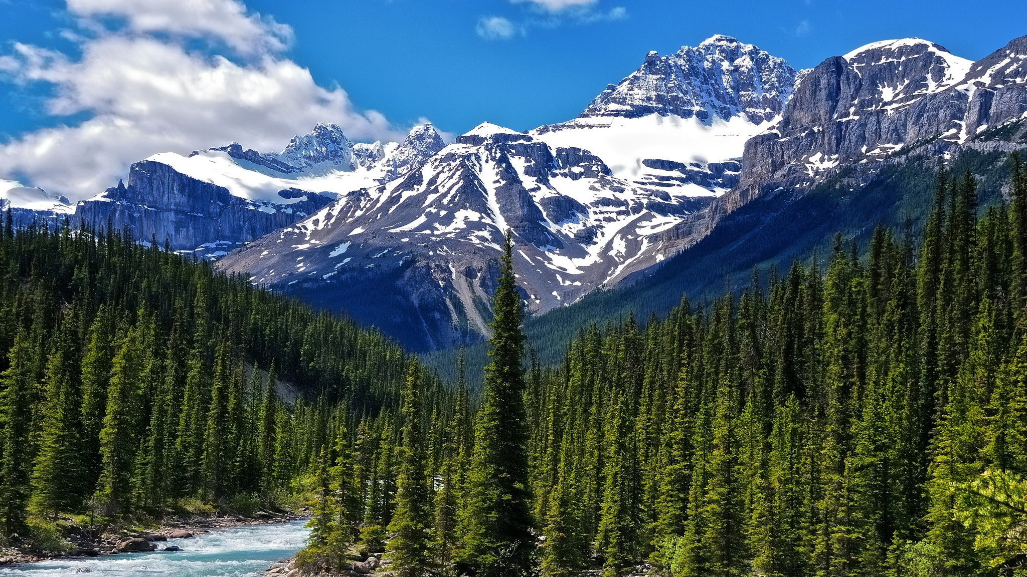 blue canadian rockies wallpaper 2048x1152 185248 WallpaperUP 2048x1152