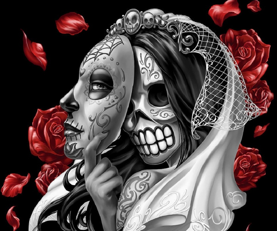 Sugar Skull Wallpaper Sugar skull wallpaper hd image 960x800