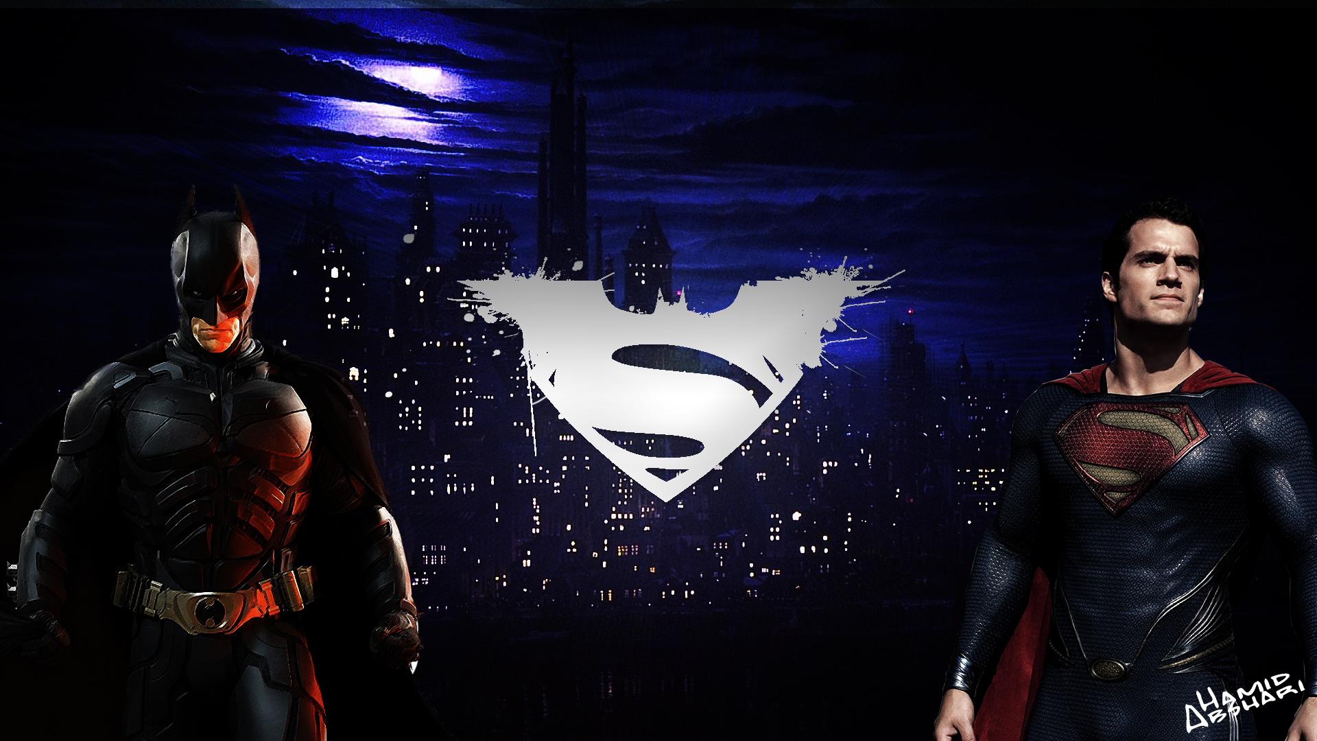 Superman And Batman Logo Wallpaper Vs 1920x1080