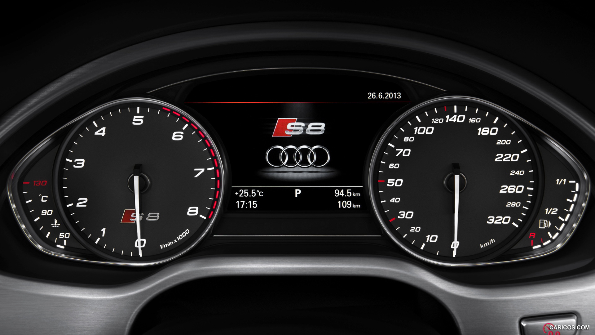 Audi S8 2014   Instrument Cluster HD Wallpaper 47 1920x1080