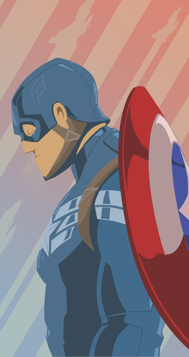 Captain America Wallpaper for iPhone 65s5c by bigCHOMPER on 651x1228
