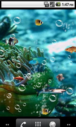 android Fondos animados android live wallpapers Aquarium 3D 307x512